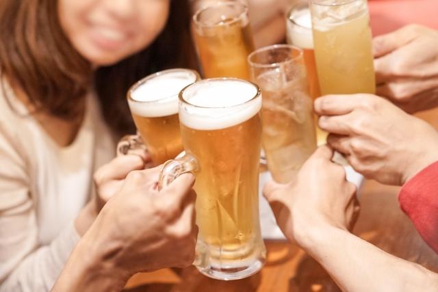 お酒は楽しく適量を。