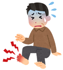 痛風が発症しかなり痛いのです。