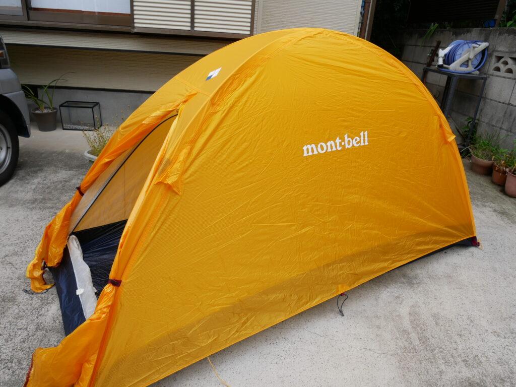自宅にテントで訓練