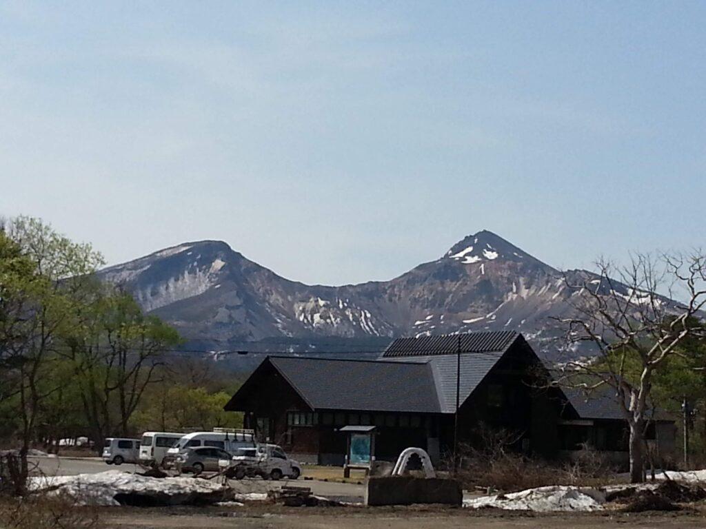 磐梯を望む絶景のキャンプ場です。