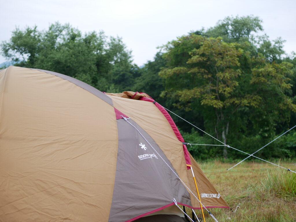 スノーピークのテント。さすが研究されています。