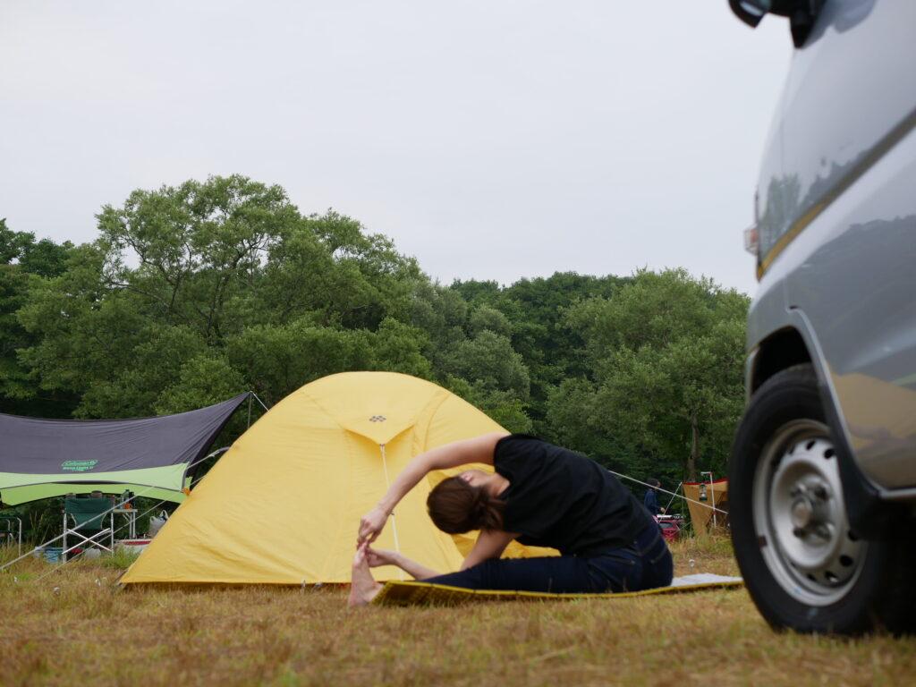 車中泊キャンプ+ヨガ