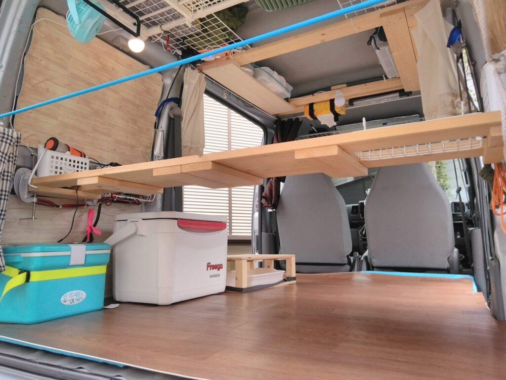 広々のフラットな床 クッションマットを敷いただけのシンプルな作り
