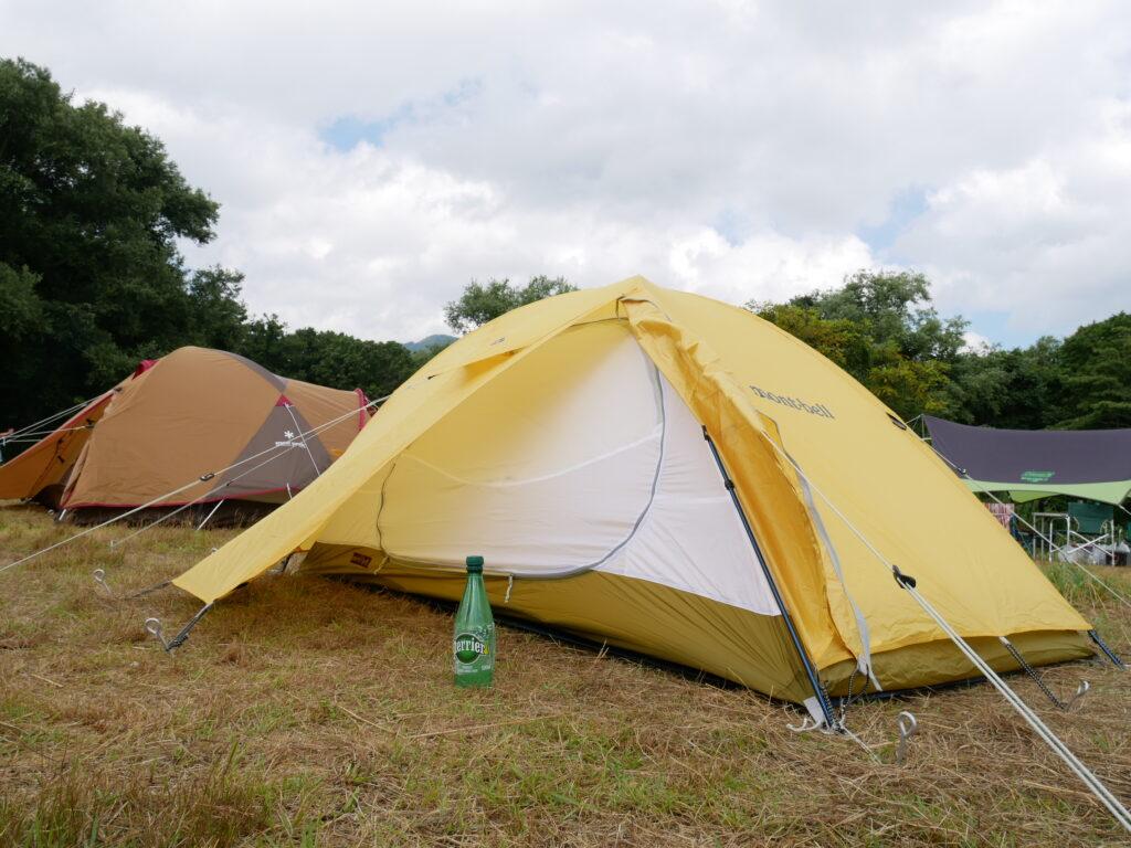 テント モンベルクロノスドーム 2人用 ダブルウォール 自立型