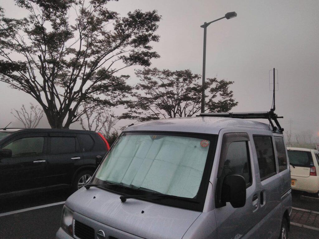 道の駅に台風通過で避難
