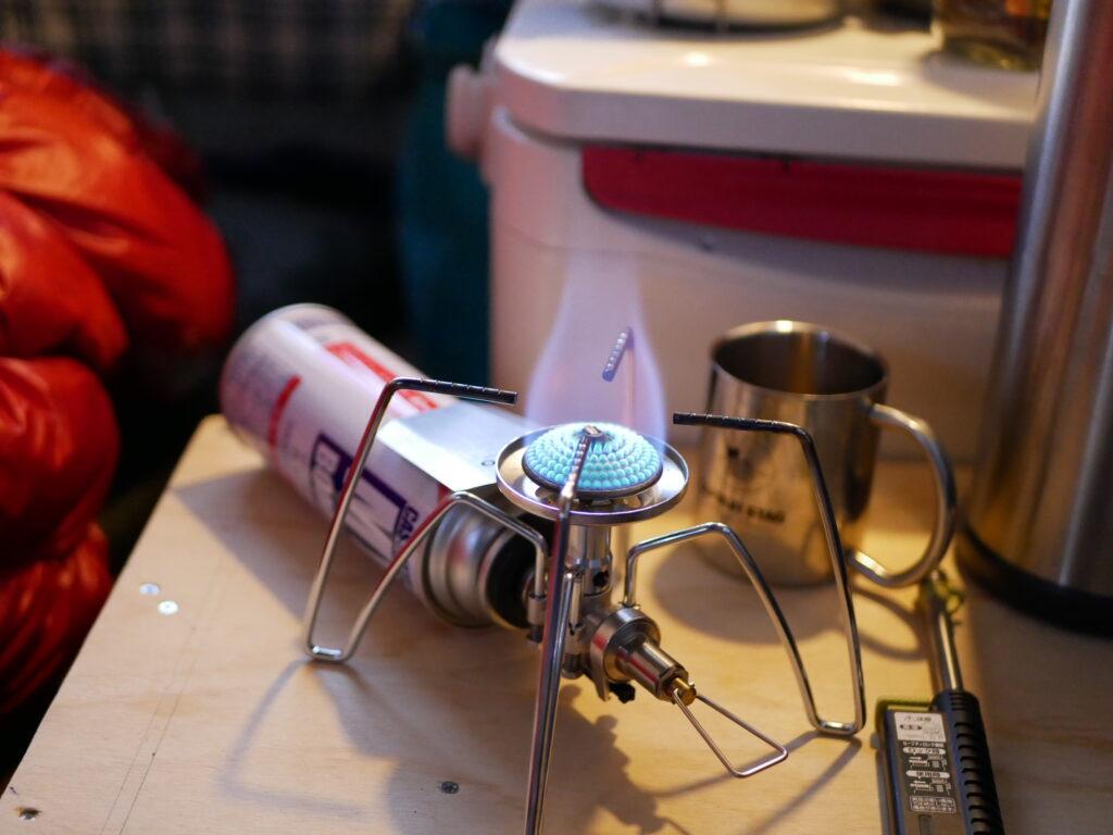 お湯は必ず使うのでバーナーはおすすめです。SOTO-ST310