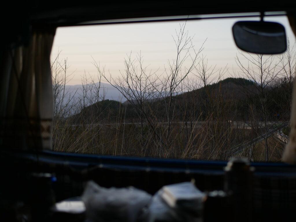 車中泊の朝は特別なひととき
