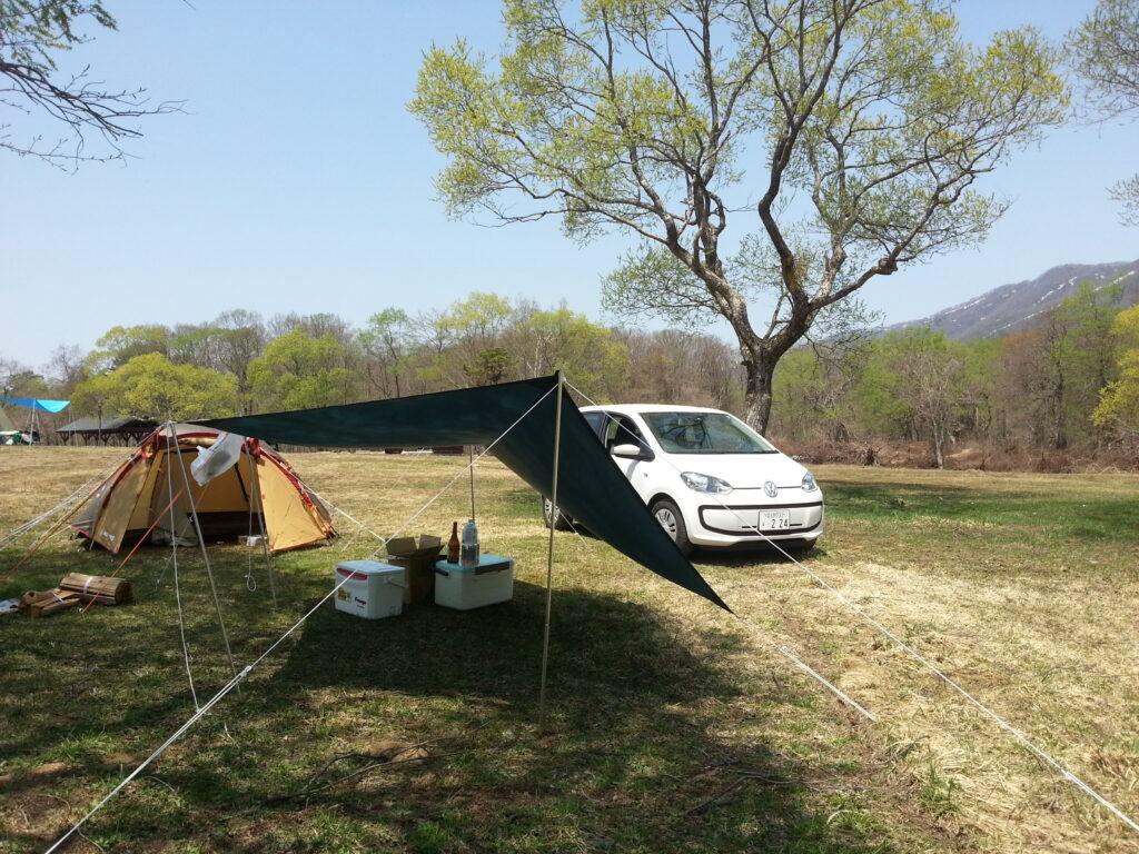 車が入れるキャンプ場は、車中泊でも使えます。
