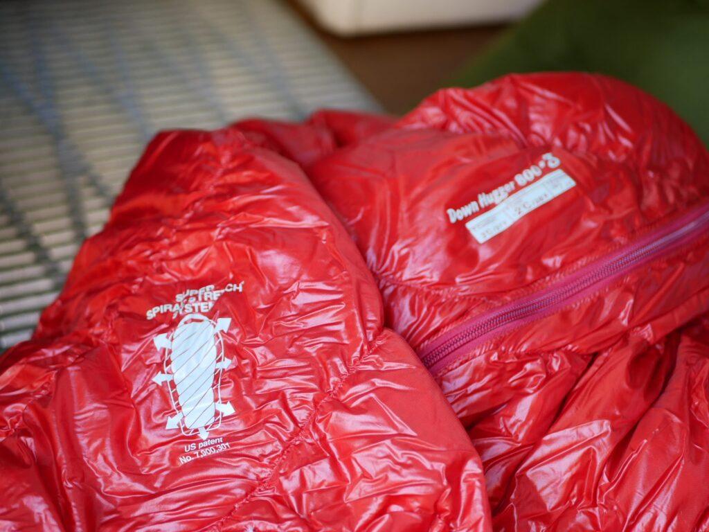 モンベルの寝袋